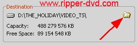 dossier extraction du fichier vidéo du DVD vidéo